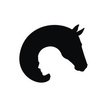 Silhouette Of A Man And A Horse
