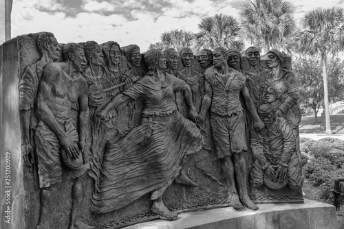 Sculpture of dancing slaves in the congo square at Louis Armstrong park in NOLA Wallpaper Mural