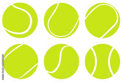 Fotomural Tennis Ball set isolated on white background,Vector tennis design