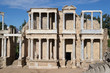 Classic Roman amphitheater located in Merida (Spain)