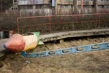 Abandoned Amusement Park. Rust...