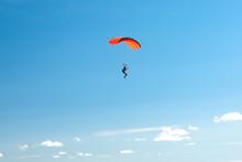 Parachutist Soar On Colorful P...