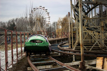 Abandoned Amusement Park. Ferris Wheel Not Used. Lithuania