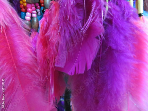 Fotografía  Precious objects of flea market with a wide variety of color and styles