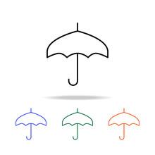 Umbrella Icon. Elements Of Simple Web Icon In Multi Color. Premium Quality Graphic Design Icon. Simple Icon For Websites, Web Design, Mobile App, Info Graphics