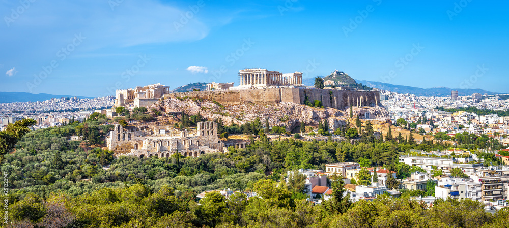 Fototapeta Panorama of Athens with Acropolis hill, Greece