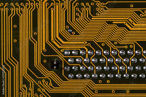 Fotografie, Obraz  Printed circuit board showing surface mount components