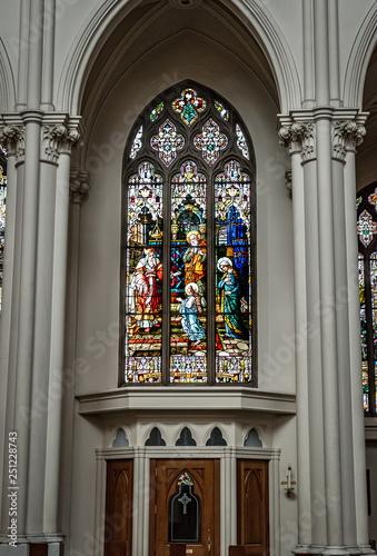 Fotografie, Obraz  Cathedral Basilica of the Immaculate Conception - Denver, Colorado _window over