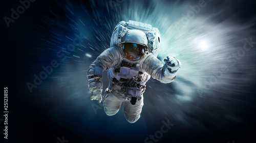 Fotografie, Obraz  Astronaut in outer space