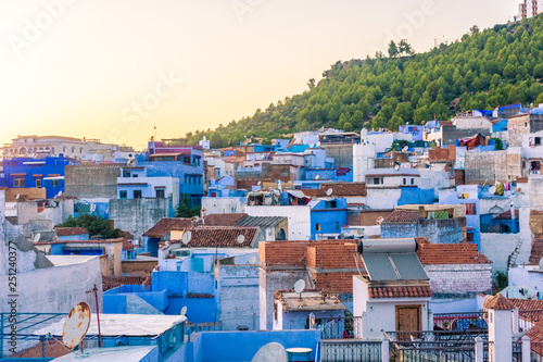 Deurstickers Marokko Cityscape of Chefchaouen, the blue city of Morocco