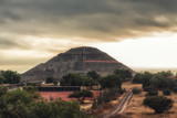 Fototapeta Tęcza - Pyramid of the Sun. Teotihuacan, Mexico