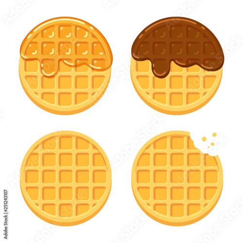 Cuadros en Lienzo Round waffles set