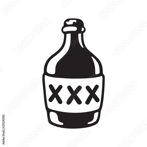 Valokuvatapetti XXX alcohol bottle