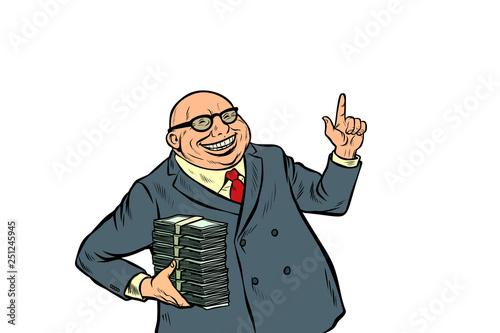 Fototapeta businessmen with cash, rich people obraz