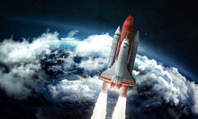 Space Shuttle In The Space Nea...