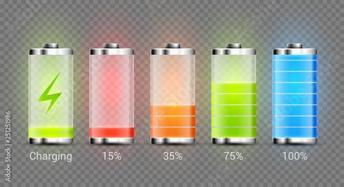 Photo Battery charge full power energy level