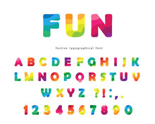 Modern Colorful Font. Bright A...