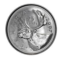 Canadian 25 Cent Coin Depictin...