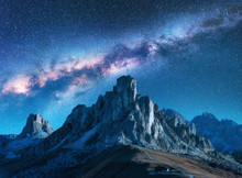 Milky Way Above Mountains At N...