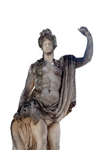 Antique Statue Of Amphitrite (Greek Mythology). She Was A Sea Goddess And Wife Of Poseidon, Queen Of The Sea. They Had A Son Merman Triton And A Daughter Rhodos.