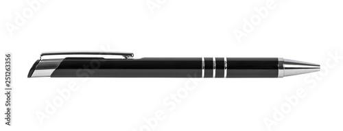 Fotografía  Black ballpoint isolated on white background