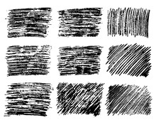 Hand Drawn Pencil Scribble Rectangles