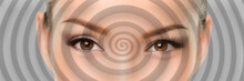 Hypnosis Spiral Over Eyes Of W...