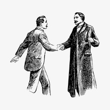 Gentlemen Shaking Hands