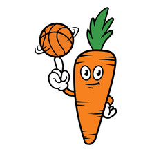 Cartoon Carrot Character Spinn...