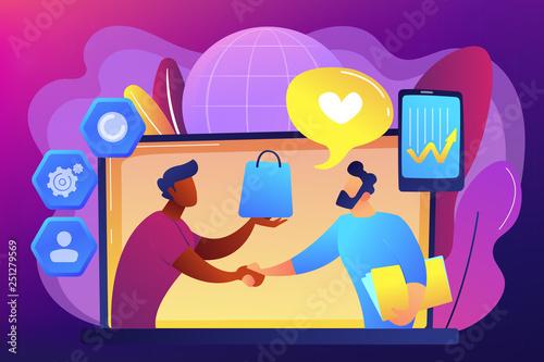 Canvas Prints Textures Customer Relationship Management concept vector illustration.