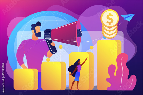 Fotografía  Economic development concept vector illustration.