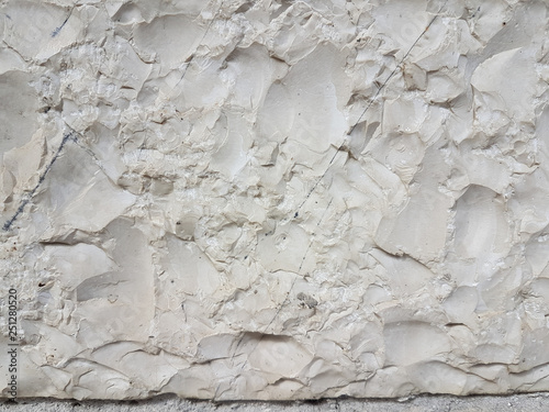 Valokuva  stone carved white top view for background