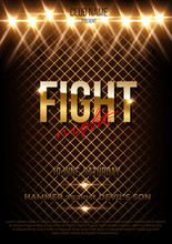 Fight Night Vector Poster Template With Text Space