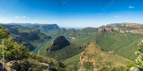 Blyde River Canyon from the Three Rondavels viewpoint, Mpumalanga, South Africa Wallpaper Mural