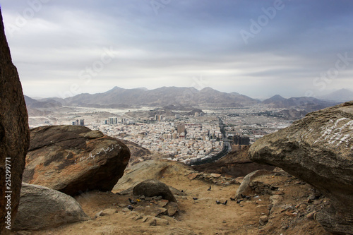 Beautiful View Of Makkah City View From Sour Mountain Saudi Arabia Buy This Stock Photo And Explore Similar Images At Adobe Stock Adobe Stock