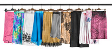 Hanging Skirts Isolated