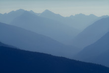 Atmospheric Haze In Olympic National Park, Washington.