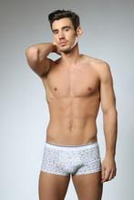 Man Posing In White Underwear
