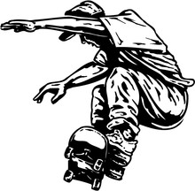 Skateboarder Vector Illustration