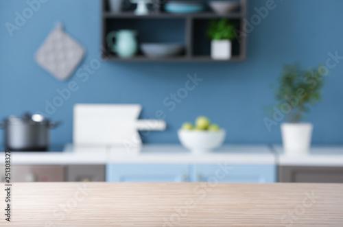 Fototapeta Empty table in kitchen obraz
