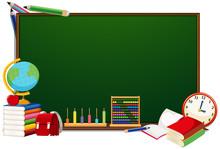 School Objects Blackboard Conc...