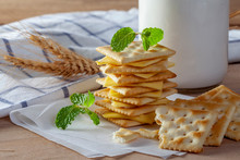 Cheese And Crackers With Fresh...