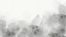 Grey Abstract Watercolor Backg...