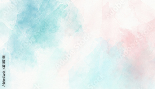 Light pink blue pastel watercolor background