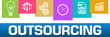 Outsourcing Business Symbols Colorful On Top Horizontal