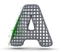 Concrete Capital Letter - A Fr...