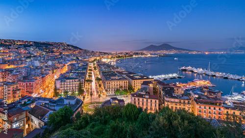 Panorama di Napoli e Vesuvio