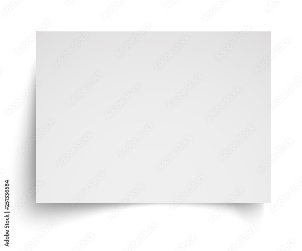 Fototapety, obrazy: Realistic blank white A4 sheet template with soft shadows on white background. Vector Illustration EPS10
