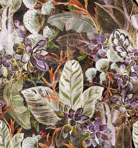 botaniczny-wzor-z-rysami-i-przebarwieniami-utrzymany-w-stylu-retro