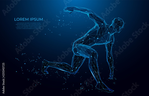 Fotografia Human body low poly wireframe